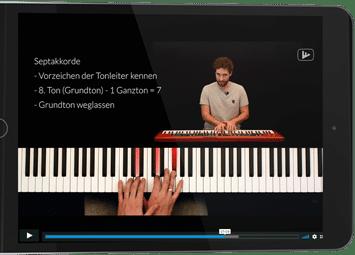 iPad mit Piano-Revolution Video Vollbild